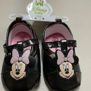 Disney Minnie Mouse 9-12 month shoe black pink new